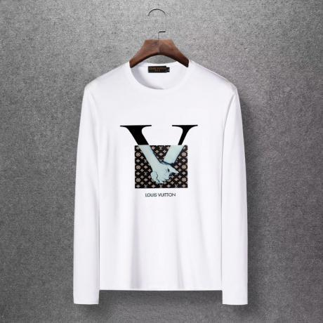 ルイヴィトン LOUIS VUITTON  長袖 Tシャツ4色スーパーコピー 国内優良サイトline
