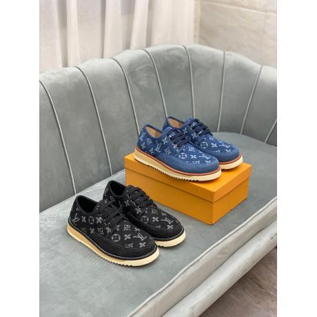 ヴィトン LOUIS VUITTON  デニム2色カジュアルシューズローカット疲れない靴最高品質コピー代引き対応