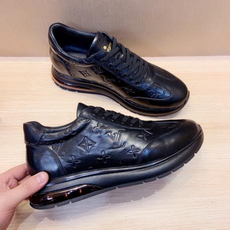 ルイヴィトン LOUIS VUITTON  2色カジュアルシューズウォーキングシューズランニングシューズ 運動靴紐快適クッションボルト本当に届くスーパーコピーおすすめ店