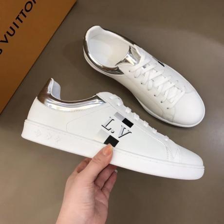 累積売上額TOP1 LOUIS VUITTON ルイヴィトン ローファーローカット疲れないウォーキングシューズカジュアルシューズ運動靴2色スーパーコピー専門店