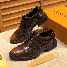 ブランド後払い LOUIS VUITTON ルイヴィトン ビジネスシューズ紳士通勤 ロングノーズ革靴紐多色展定番本当に届くブランドコピー安全後払い代引き店