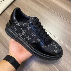 ルイヴィトン LOUIS VUITTON  4色厚底カジュアルシューズ通勤 紐紳士スニーカーモノグラム定番ブランドコピー代引き靴