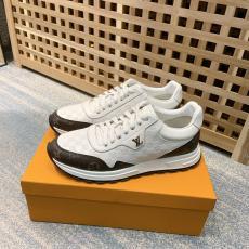 ヴィトン LOUIS VUITTON  2色カジュアルシューズ運動靴おしゃれ防滑定番モノグラムエンボスランニングシューズ バスケットシューズ紐スニーカースーパーコピー代引き靴