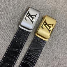 早い者勝ち ヴィトン LOUIS VUITTON  スマート両面両面ワニ紋精巧幅3.5cm2色コピー 販売n級品