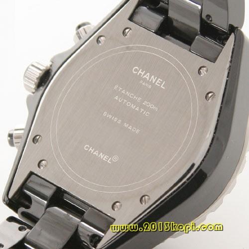 シャネル スポーツ J12 オートマチック  ブラックダイヤベゼル セラミック ブラック メンズ H1419