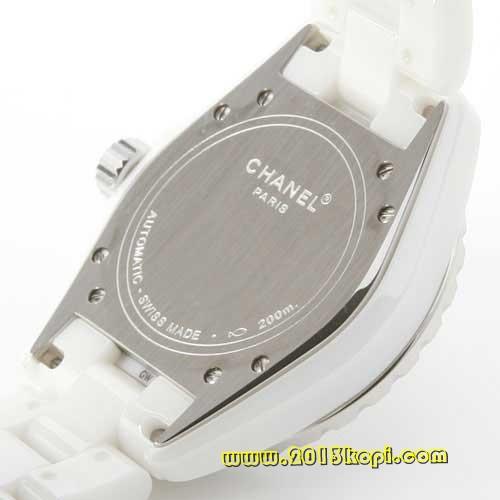 シャネル スポーツ J12 オートマチック ブラックダイヤベゼル セラミック ホワイト メンズ H1631