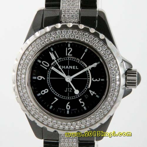 シャネル スポーツ J12 ダイヤモンド セラミック ブラック レディース H1338