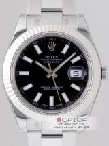 ロレックス ROLEX パーペチュアル デイトジャストII メンズ 116334 オイスターブレス ブラックスーパーコピー時計代引き