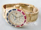 ロレックス ROLEX GMTマスターII 116758SARU DP サファイヤ・ルビー・ダイヤベゼル 全面ダイヤスーパーコピーブランド腕時計