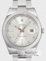 ロレックス ROLEX パーペチュアル デイトジャストII メンズ 116300 オイスターブレス シルバーバー腕時計最高品質コピー代引き対応