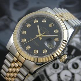 おしゃれなブランド時計がロレックス-デイトジャスト-ROLEX-116233G-137-男性用を提供します. おすすめ通販代引き