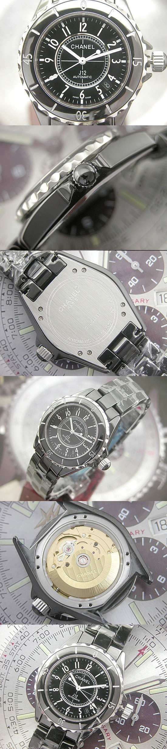 おしゃれなブランド時計がシャネル-CHANEL-H0685-J12-男性用を提供します.
